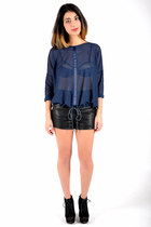 SHOP PARIS | NAVY MESH TOP