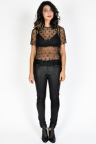 SHOP LA | SHEER BLACK LACE TOP