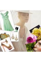 aquamarine romantic 31 phillip lim dress - clucth Bottega Venetta bag - Forever