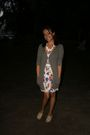 Green-pull-bear-cardigan-zara-dress-beige-dione-shoes-white-fou-fou-chat-n