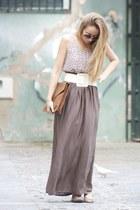 Primark dress - Farrutx bag - Zara skirt - Cortefiel belt