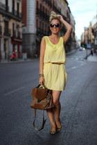 Fashion Pills dress - Janet Janet bag - Zara flats - Primark belt