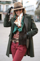dark green pull&bear scarf - forest green Primark coat