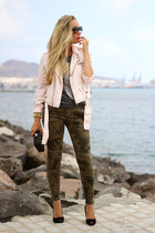 whiz jacket - Zara bag - Zara pants - Zara heels - Ebay bracelet