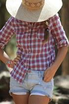 Zara shirt - Mango hat - Zara shorts - LA SEORITA bracelet