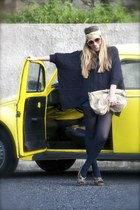 pull&bear sweater - H&M scarf - pull&bear shorts - dvb sunglasses - Zara sandals