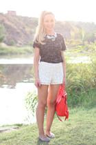 Queens Wardrobe shorts - Zara bag - Anniel flats - Lefties necklace