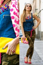 Zara shirt - Zara scarf - Zara bag - Zara flats - Zara pants - YSL ring