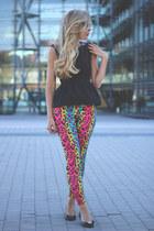 Ebay leggings - Zara top - Melissa flats