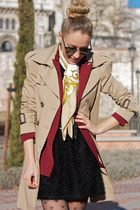 Queens Wardrobe blazer - Queens Wardrobe dress - Zara coat - Primark tights