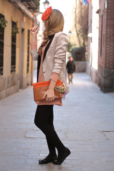 Queens Wardrobe dress - H&M blazer - In a cloud accessories - Melissa flats
