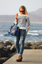 True Religion jeans - maliparmi bag - Sixty Seven wedges - Hermes bracelet