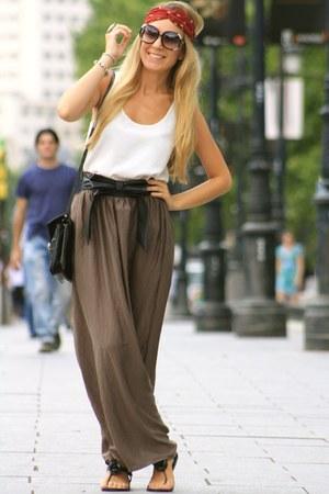 Zara skirt - Mango bag - Mango top - Parfois flats