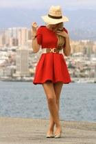 H&M hat - Zara dress - Zara flats