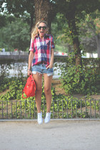 Queens Wardrobe shirt - Zara bag - SuitBlanco shorts - Ebay sunglasses