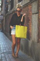 Zara bag - Ebay shirt - romwe shorts - Marc by Marc Jacobs bracelet - Zara flats
