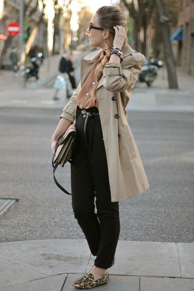 romwe flats - Zara coat - romwe sunglasses - Zara pants - LA SEORITA bracelet