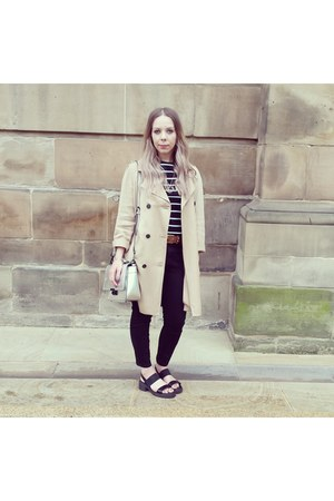Topshop coat - asos jeans - silver metallic Topshop bag - asos sandals