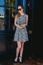 Black-printed-nicole-by-nicole-miller-dress