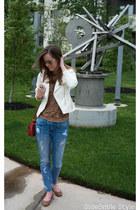 moto jacket H&M jacket - distressed Current Elliot jeans