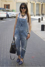 Blue-dungaree-zara-jeans-black-bowling-coco-bimba-lola-bag