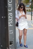 Zara blouse - Menbur bag - paname dior sunglasses - Zara loafers - Zara skirt