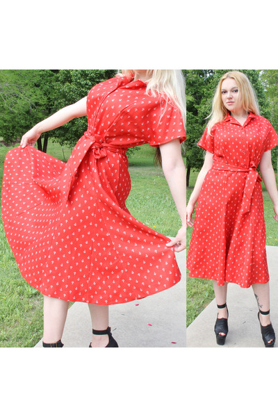 red ShirtDress dress