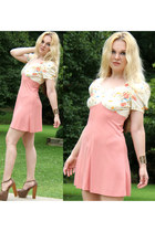 salmon Terri Betsey Johnson Vintage dress