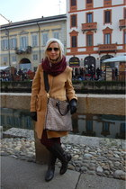Burberry coat - Geox boots - Zara leggings - Moschino bag - ray-ban glasses