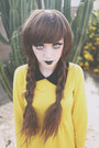 Yellow-from-korea-dress-brown-synthetic-ebay-hair-accessory