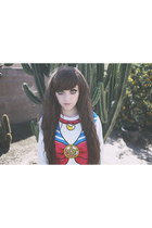 white sailor moon Mancphoebe sweatshirt - brown synthetic Ebay hair accessory