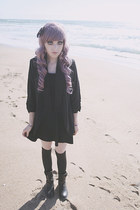 black skater Forever 21 dress - black Ebay tights