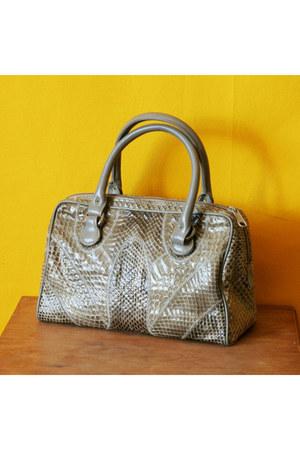 snake skin no brand bag