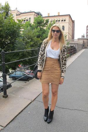 GINA TRICOT cardigan - H&M skirt - whyred boots - Miu Miu sunglasses
