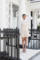 asos dress - asos shirt - Charlotte Olympia heels