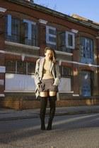 Christian Louboutin boots - Hackett coat - joseph top