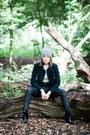 Ash-boots-waven-jeans-topshop-hat-waven-jacket