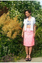 asos skirt - Topshop top - Topshop top - Prada sandals