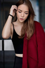 Black-high-ankle-zara-boots-ruby-red-wool-yoins-coat