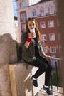 Black-urban-outfitters-leggings-dark-khaki-military-zara-shirt