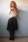 Drmartens-boots-maison-scotch-top-la-perla-bra-fornarina-skirt