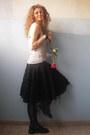 Drmartens-boots-la-perla-bra-maison-scotch-top-fornarina-skirt