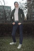 Diesel jeans - H&M blazer - Converse sneakers