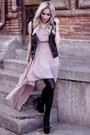 Pink-ax-paris-dress-black-pimkie-vest