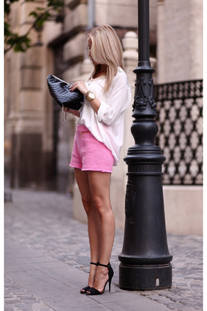 bubble gum Zara shorts