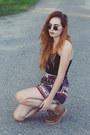 Chiffon-sheinside-shorts-cotton-sheinside-top
