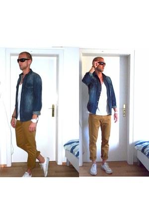 ray ban p Ray Ban sunglasses - jeans Zara shirt - Zara pants