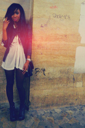 Zara jacket - H&M blouse - Primadonna heels - ring