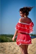 gypsy Awear dress - tan River Island belt