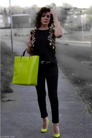 lime green Zara bag